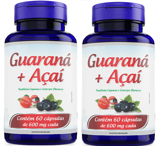 2 GUARANA COM ACAI 60CAPS 600MG