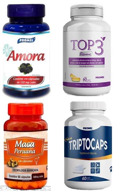 1 Amora 100caps 510mg + 1 Top 3 Femme 60caps 100mg+ 1 Maca Peruana 60caps 500mg+ 1 Triptocaps 60caps 600mg