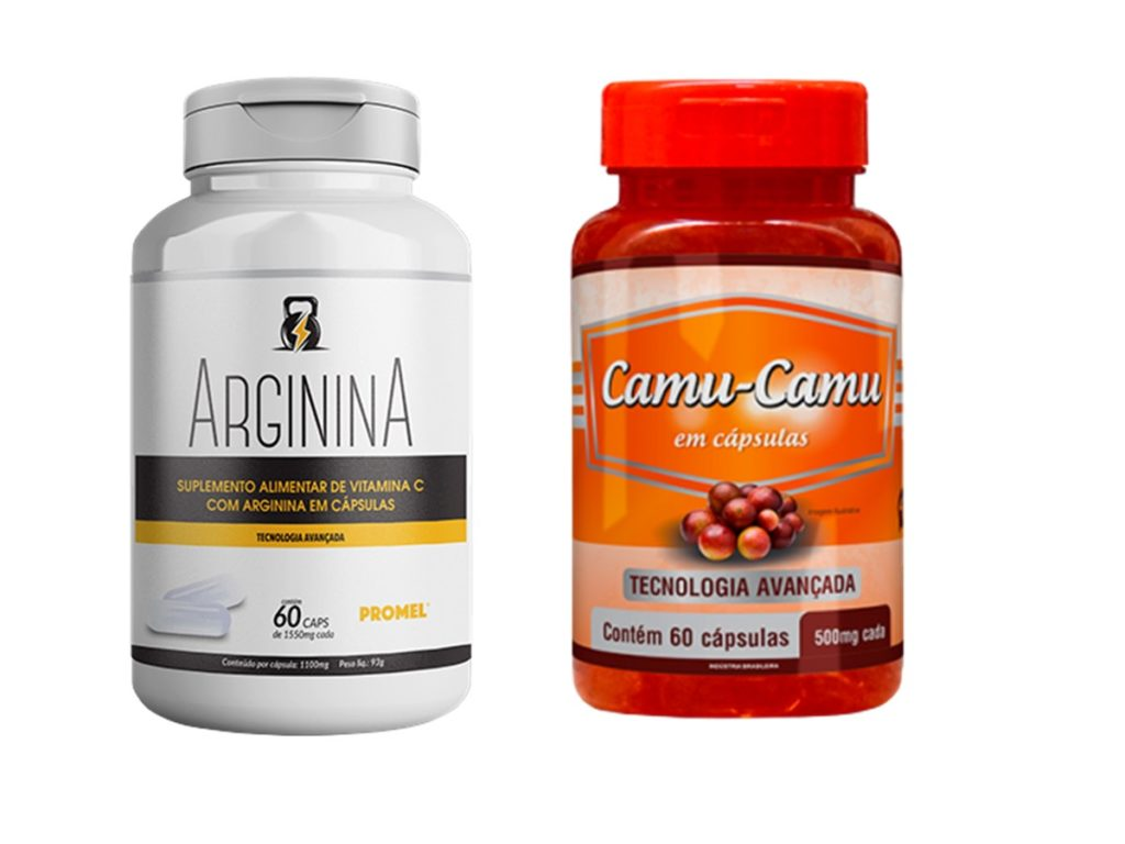 1 Arginina 60 caps 1550mg + 1 Camu-Camu 60 caps 500mg